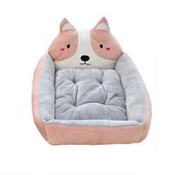YANQ Chien Lavable Kennel Teddy Chiot Rongeur Corgi Moyen Petit Chien Printemps et en été Sleeping Dog Matelas (Couleur : Rose, Taille : 40cm)