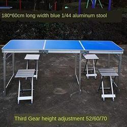 ZRR Table Pliante et Chaise Ensemble Table de Jardin Portable en Alliage d'aluminium Bureau d'affaires Table de Plage Table de Pique-Nique Barbecue, 12