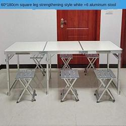 ZRR Table Pliante et Chaise Ensemble Table de Jardin Portable en Alliage d'aluminium Bureau d'affaires Table de Plage Table de Pique-Nique Barbecue, 13