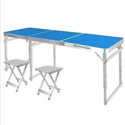 ZRR Table Pliante et Chaise Ensemble Table de Jardin Portable en Alliage d'aluminium Bureau d'affaires Table de Plage Table de Pique-Nique Barbecue, 10