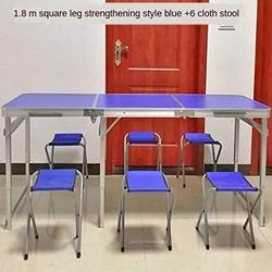 ZRR Table Pliante et Chaise Ensemble Table de Jardin Portable en Alliage d'aluminium Bureau d'affaires Table de Plage Barbecue Table de Pique-Nique, 08