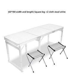 ZRR Table Pliante et Chaise Ensemble Table de Jardin Portable en Alliage d'aluminium Bureau d'affaires Table de Plage Table de Pique-Nique Barbecue, 03
