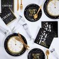 Creative Converting Golden New Year Deluxe Party Supplies Kit for 24 GuestsPaper/Plastic in Black/Yellow   Wayfair DTC5587E2B