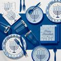 Creative Converting Hanukkah Celebration Deluxe Party Supplies Kit for 24 GuestsPaper/Plastic in Blue | Wayfair DTC5574E2B