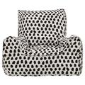Isabelle & Max™ Splotches Small 100% Cotton Bean Bag Cover Cotton/Cotton Blend/Scratch/Tear Resistant in Gray/White/Black   Wayfair