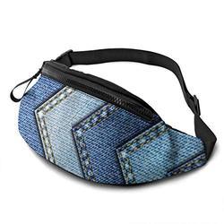VBMGHDDS Gradient Blue Denim Travel Fanny Bag Waist Pack Sling Pocket Super Lightweight for Travel Cashier's Box