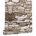 Peel and Stick Wallpaper,Wallpaper Stick and Peel,Peel and Stick Backsplash,Wall Paper Roll Peel and Stick,Removable Wallpaper - 2 8 FT x 17 in Stone Wallpaper That can be Easily Applied and Removed
