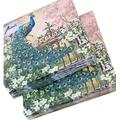 2x20-ct 13x13 Peacock Napkins | Bird Napkins | Valentine Napkins | Dinner Paper Napkins | Decorative Paper Napkins for Decoupage Paper | Cocktail Paper Napkins for Wedding Mother's Day Birthday Party