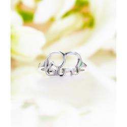 Sevil 925 Women's Rings 2 - Sterling Silver Open Elephant Ring