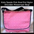 Kate Spade Bags | Kate Spade Pink Noel Dot Nylon Messenger Bag! | Color: Black/Pink | Size: Large