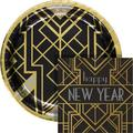 Creative Converting Art Deco New Year Party Supplies Kit for 24 GuestsPaper in Black/Yellow   Wayfair DTC5097E2G