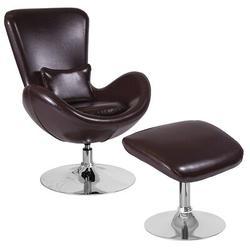 Flash Furniture Leather Configurable Reception Set Faux Leather | Wayfair FFSCH-162430-CO-BN-LEA-GG