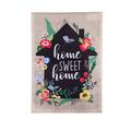 Evergreen Enterprises, Inc Home Sweet Home Floral Farmhouse 2-Sided Burlap 19 x 12 in. Garden Flag in Black/Gray, Size 18.5 H x 12.0 W in   Wayfair