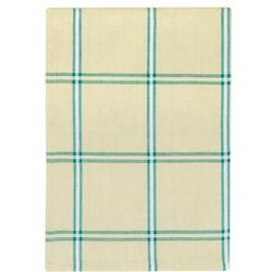 """Traders and Company 100% Cotton Blue & White Plaid 20""""X28"""" Dish Towel, Set Of 6 - Lounge Cotton in Blue/Brown, Size 28.0 H x 20.0 W in 