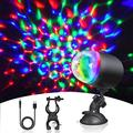 Euproce Mini LED Disco Ball Lights, RGB Rechargeable Party Stage Lights, Rotatable LED Flashing DJ Lights with Removeable Suction Base and Bicycle Bracket for Christmas, Brithday, Party, Bar and KTV