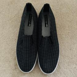 American Eagle Outfitters Shoes | Brand New Vans-Style Slip On Sneakers | Color: Black/Gray | Size: 8.5
