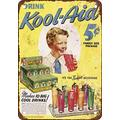 PixDecor 1943 Kool-Aid Vintage Look Reproduction Metal Tin Sign 12X16 Inches Retro Metal Vintage Sign