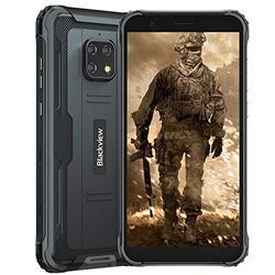 Rugged Smartphone Unlocked Blackview BV4900 Android 10 3GB+32GB Waterproof Cell Phone, 8MP Dual Camera 5.7 inch HD+ Screen 5580mAh Big Battery, Dual SIM 4G Rugged Phone Unlocked US Version -Black