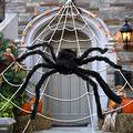 synmixx Halloween Spider Decorations - Giant Halloween Spider Web and Fake Large Hairy Spider Props for Halloween Decorations Indoor Outdoor Yard Decor, Home Costumes Parties, Haunted House Décor