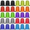 Drawstring Backpack Cinch Bag Drawstring Bags Bulk Draw String Sport Nylon Bag 10 Color (10 Color, 30PCS)