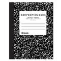 BAZIC Wide Ruled 100 Sheets Black Marble Composition Book, Comp Books Writing Journal Notebook with Lined Paper, Home School Office Supplies, Student Class Schedule, 4-Pack