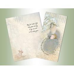 The Holiday Aisle® Lamb of God Long Glitter Card in Blue/Brown, Size 8.0 H x 6.0 W x 1.0 D in | Wayfair 29B9790A51624500B18073C1EC2AADB9
