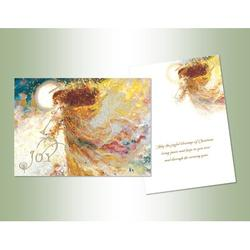 The Holiday Aisle® Joy Angel Deluxe Glitter Card in Blue/Brown/Yellow, Size 8.0 H x 6.0 W x 1.0 D in   Wayfair 781FB71877254E5097F527AED4AB8896
