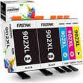 FASTINK Compatible Ink Cartridge Replacement for HP 902XL 902 XL Ink Cartridge Combo Pack for HP Officejet Pro 6978 6968 6962 6958 6970 Ink Cartridges, 5-Pack (2 Black, 1 Cyan, 1 Magenta,1 Yellow)