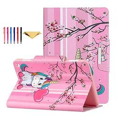 Fire HD 8 Case 2020 DTangLsm Fire HD 8 Plus Cover [Multi-Angles] Slim Folding Stand Cover w/Auto Wake/Sleep for All-New Kindle Fire HD 8 & Fire HD 8 Plus(10th Generation 2020 Release),Sakura Unicorn