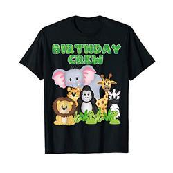 Birthday Crew Zoo Safari Jungle Animals Birthday Party T-Shirt