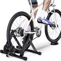 Dolak Suitable for 26-Inch to 28-Inch Low-Noise Bike Trainer Stand,Steel Bicycle Exercise Magnetic Stand with Front Wheel Riser Block