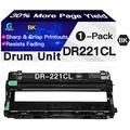 Go4max Compatible Drum Unit Replacement for Brother DR221 DR-221 Drum Unit DR221CL Drum Used for Brother HL-3140CW HL-3170CDW MFC-9330CDW MFC-9130CW MFC-9340CDW Printer (Black)