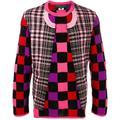 Deconstructed Check Jumper - Pink - Comme des Garçons Knitwear