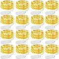 Led Fairy String Lights 16 Pack Starry String Lights 30 Led String Lights Firefly Lights Moon Lights Work for Bedroom,Wedding,Christmas,Party,Table Decor(Warm White)