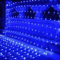 LEYOYO LED Net Lights Outdoor Mesh Lights, 8 Modes 200 Led 6.6ft x 9.8ft Christmas Net Lights for Bedroom, Christmas Trees, Bushes, Wedding, Garden, Outdoor Decorations (Blue)