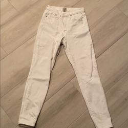 J. Crew Jeans   High Waisted White Denim Jeans   Color: White   Size: 28