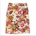 J. Crew Skirts   Nwot J. Crew Watercolor Floral Pencil Ski   Color: Green/Pink   Size: 2