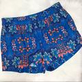 J. Crew Shorts | J Crew Elastic Waist Blue Floral Shorts 4 | Color: Blue | Size: 4