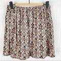Brandy Melville Skirts | Brandy Melville Aztec Print Pull-On Mini Skirt Nwt | Color: Pink/White | Size: S