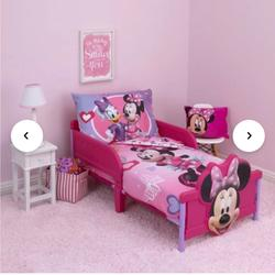 Disney Bedding | Minnie Mouse Hearts & Bow 2-Piece Bedding Set | Color: Pink/Purple | Size: Twin