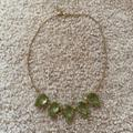 J. Crew Jewelry | J. Crew Light Green Teardrop Necklace | Color: Gold/Green | Size: Os