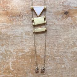 Madewell Jewelry | Madewell | Gold And Rose Quartz Necklace | Color: Gold/Pink | Size: Os