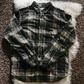 Columbia Shirts | Columbia Mens Weston Pass Ii Lined Flannel Shirt | Color: Cream/Green | Size: M