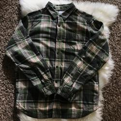 Columbia Shirts   Columbia Mens Weston Pass Ii Lined Flannel Shirt   Color: Cream/Green   Size: M