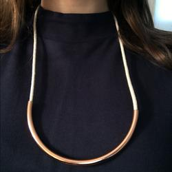 Madewell Jewelry | Madewell Rope & Copper Necklace | Color: Cream | Size: Os