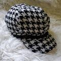 Nine West Accessories | Nine West Houndstooth Newsboy Women'S Hat | Color: Black | Size: Os