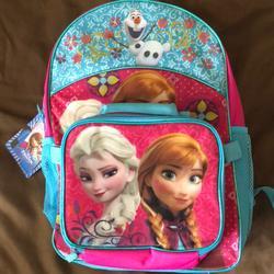 Disney Accessories   Kids Disney Anna & Elsa Frozen Backpack   Color: Pink/Purple   Size: Backpack