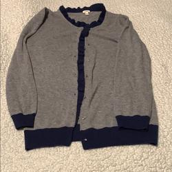 J. Crew Sweaters | J Crew Button Down Sweater Xs Blue N Gray | Color: Blue/Gray | Size: Xs