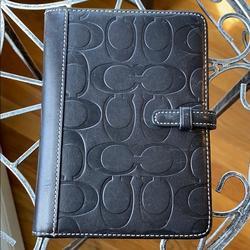 Coach Accessories | Coach Black Leather Photo Case | Color: Black | Size: 4x6