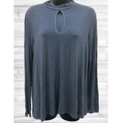 American Eagle Outfitters Tops | 2$20 Aeo Soft & Sexy | Ls Gray Shirt | Large | Color: Gray | Size: L